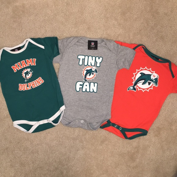 d99580426 NFL Miami Dolphins Baby Onesies Set of 3 Size 12M.  M_5b9685da5a9d215bd5956722